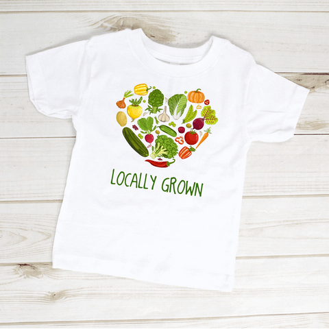Image of Locally Grown Farmer Vegetables Toddler Shirt