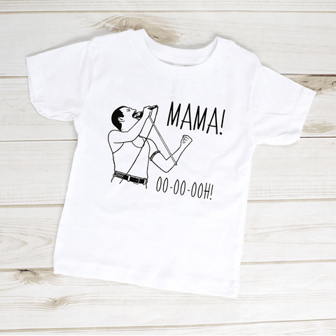 Image of Kids Shirt - Freddie Mercury Mama Ooh Queen Band