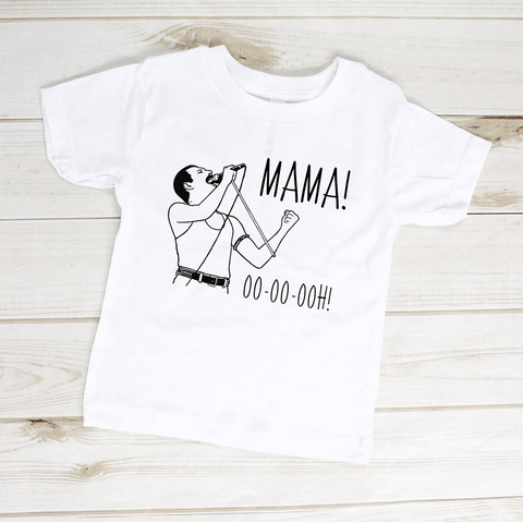 Image of Freddie Mercury Mama Ooh Queen Band Toddler Shirt