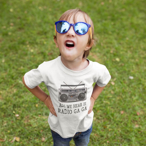 Toddler Shirt - All We Hear Is Radio Ga Ga Queen Band