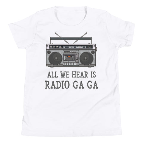 Image of Kids Shirt - All We Hear Is Radio Ga Ga Queen Band