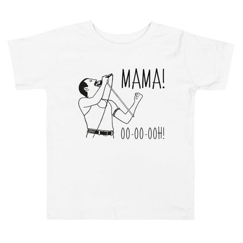 Toddler Shirt - Freddie Mercury Mama Ooh Queen Band