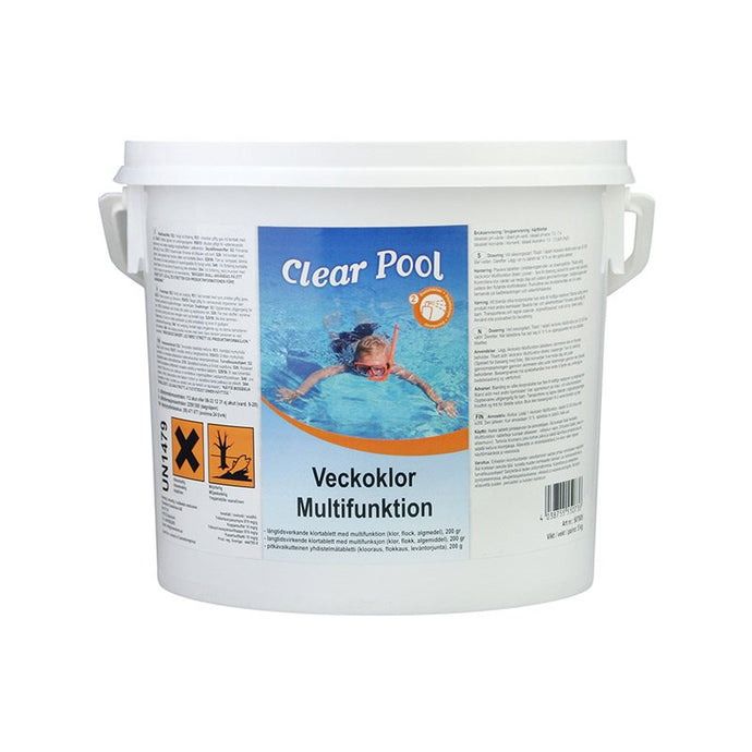 Veckoklor 10kg Multifunktion 200g tablett