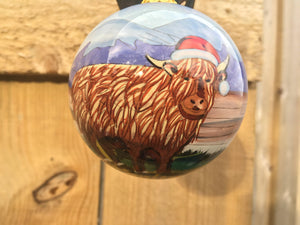 Highland Cow Christmas Bauble