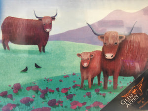 Highland Cow Placemat set of 6