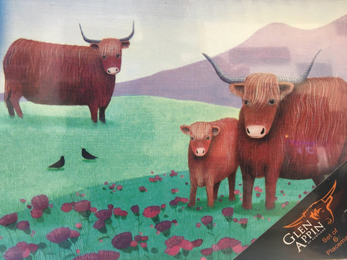 Highland Cow Placemat set of 6 - The Oyster Shed