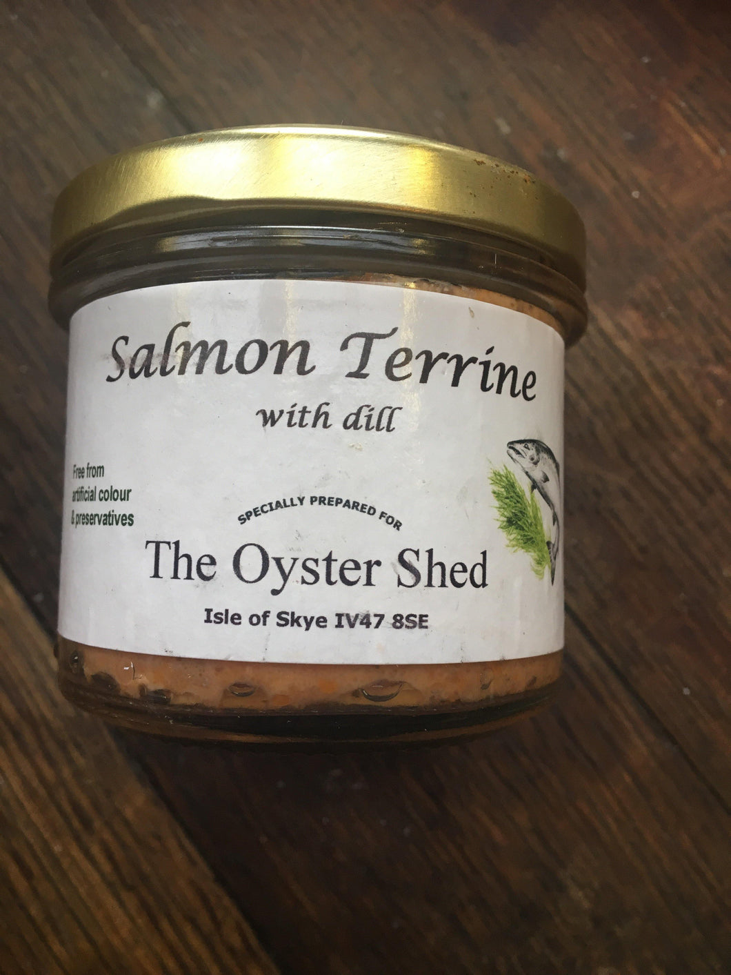 Salmon Terrine with dill - Small - The Oyster Shed