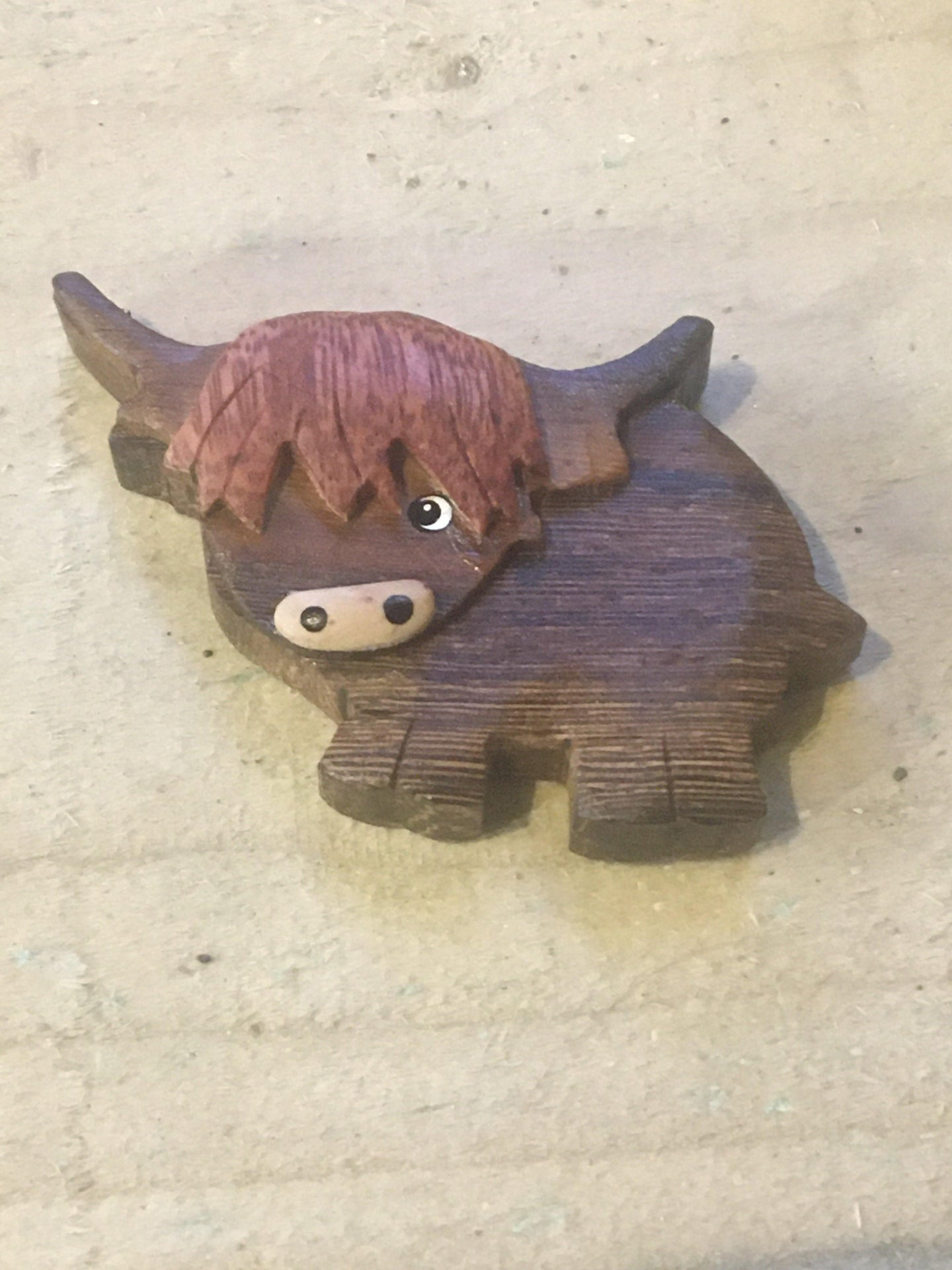 Highland Cow Fridge Magnet