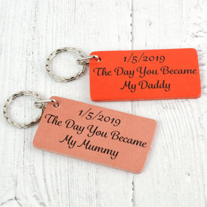 Special Date Personalised Message Keyring