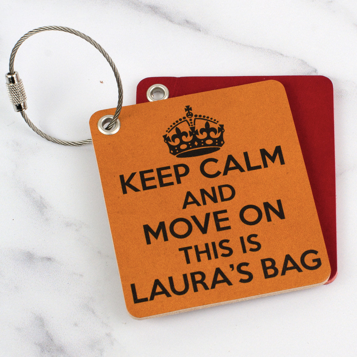 Keep calm and move on luggage tag