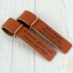 Personalised details Leather Luggage Tag