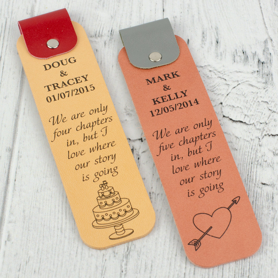 Personalised Anniversary Bookmark