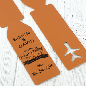 anniversary luggage tag