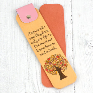 Book Tree Leather Bookmark