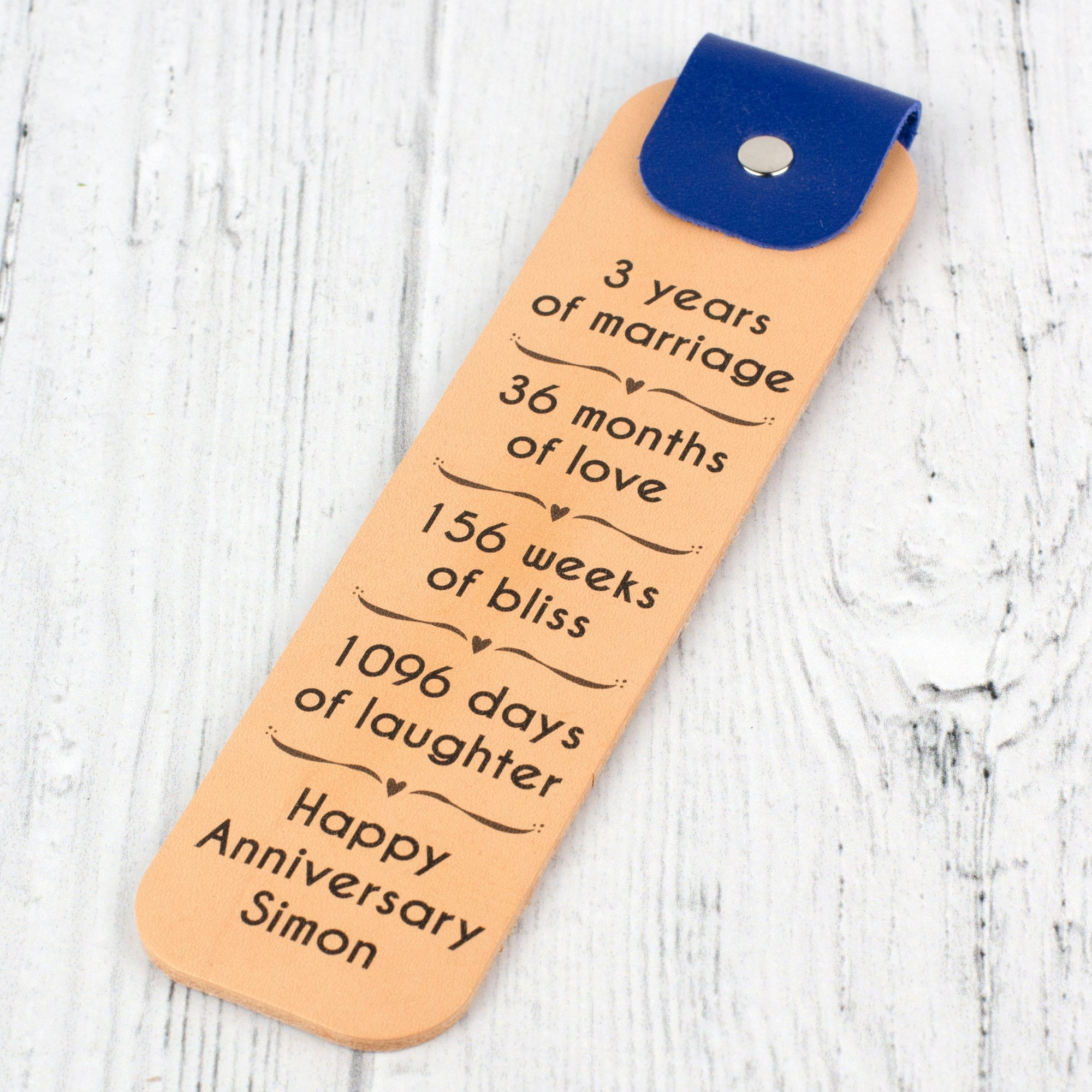 happy anniversary bookmark