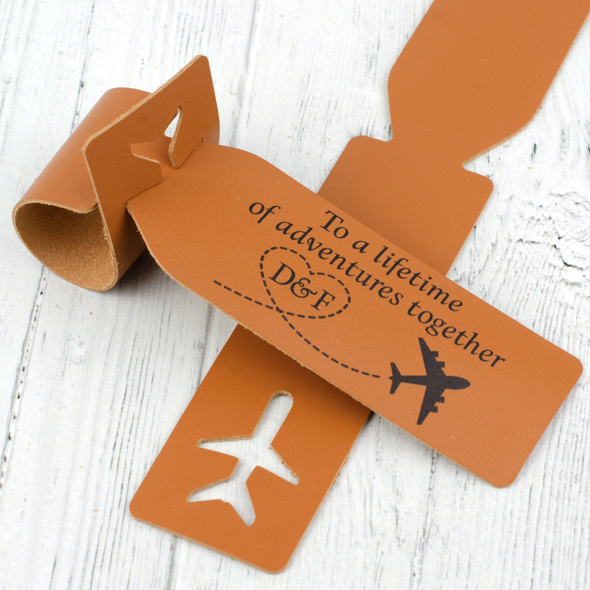 lifetime of adventures luggage tag