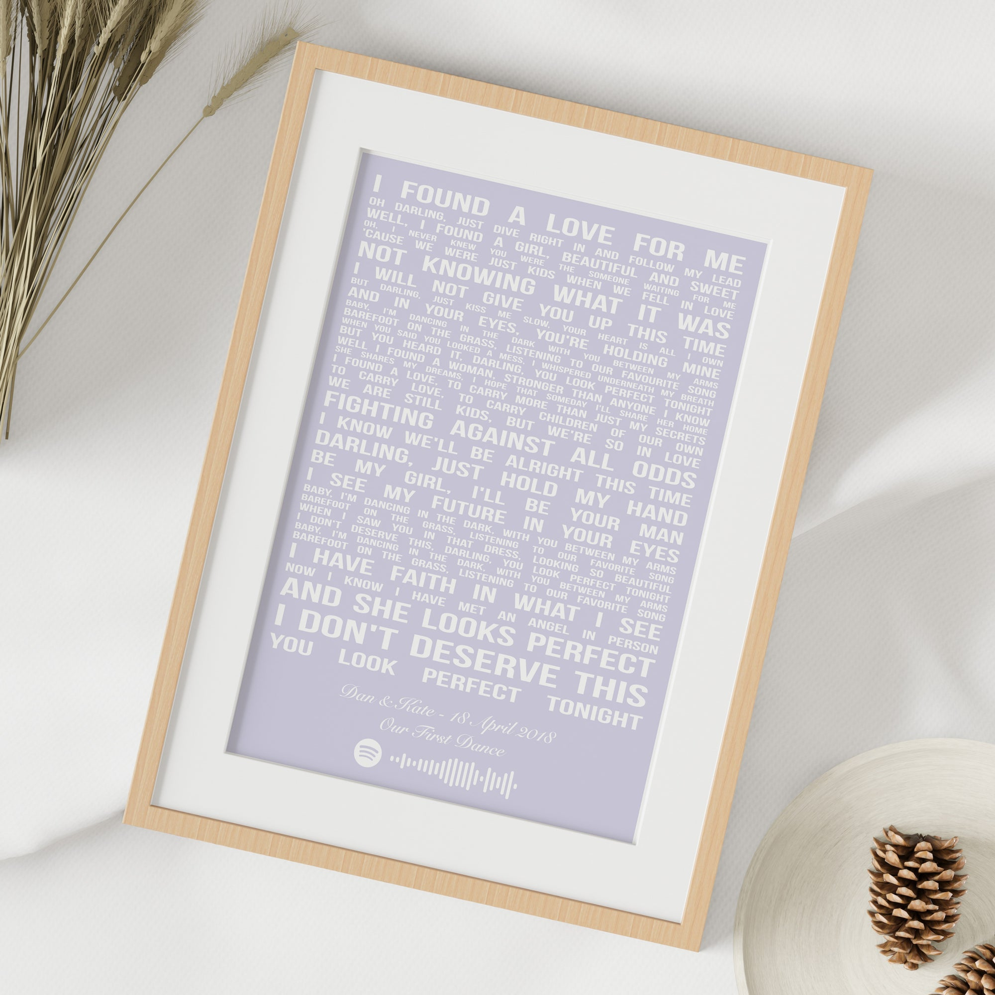 purple song lyric print