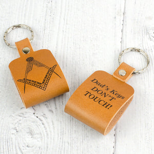 square and compass keyring