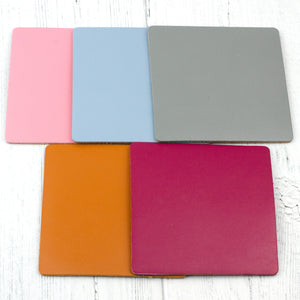 square leather coaster colours