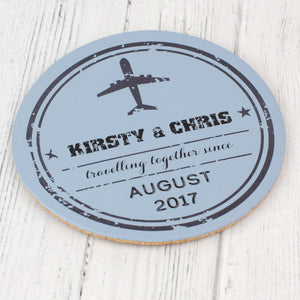 Travel Stamp coaster