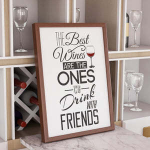 wine with friends print