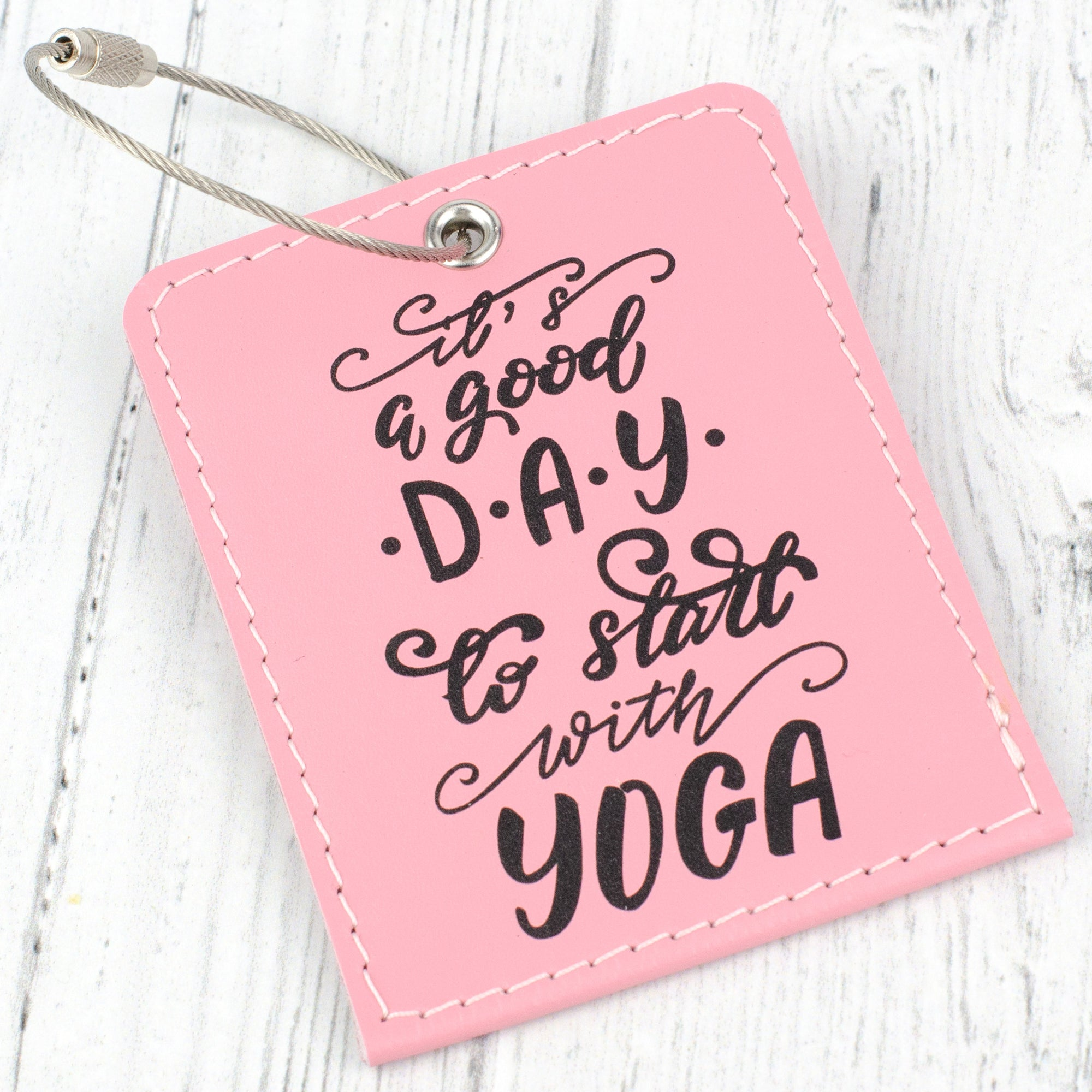 yoga bag tag