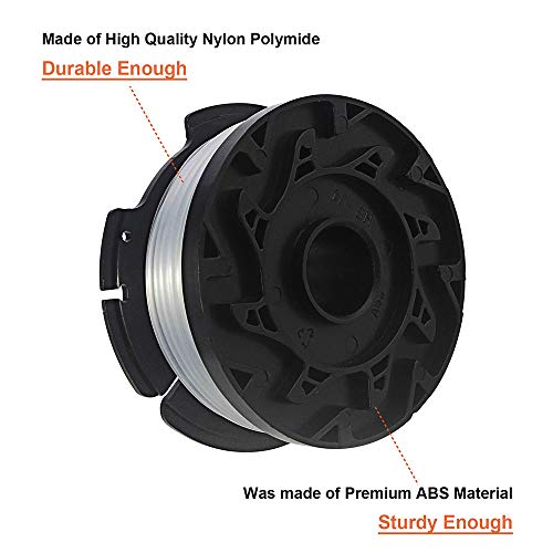 Thten String Trimmer Spool Replacement for Black and Decker AF-100, 30ft  0 065