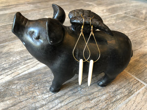 Teardrop Spiked Earrings