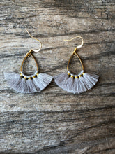 Load image into Gallery viewer, Teardrop Tassel Earrings