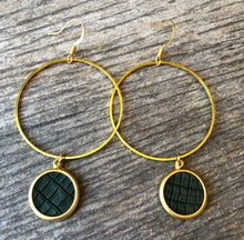 Load image into Gallery viewer, Black Khaki Earrings