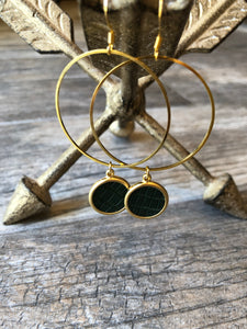 Black Khaki Earrings