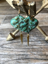 Load image into Gallery viewer, Spiked Patina Earrings