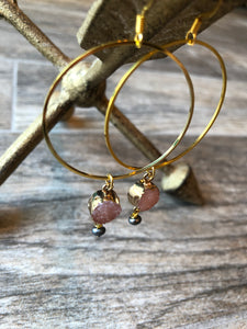 Sparrow Circle Earrings