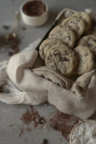 Salted chocolate chip cookies - Sustenance Artisan Food LLP