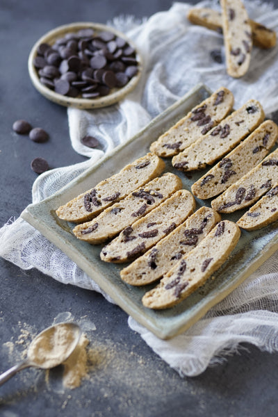 Gingerbread chocolate biscotti - Sustenance Artisan Food LLP