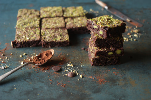 Chocolate pistachio brownies - Sustenance Artisan Food LLP