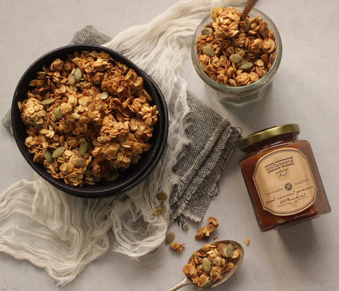 Flavour of the month- Salted caramel granola - Sustenance Artisan Food LLP