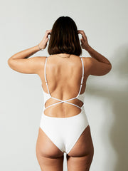 ADRIANNA MATERNITY SWIMSUIT WHITE