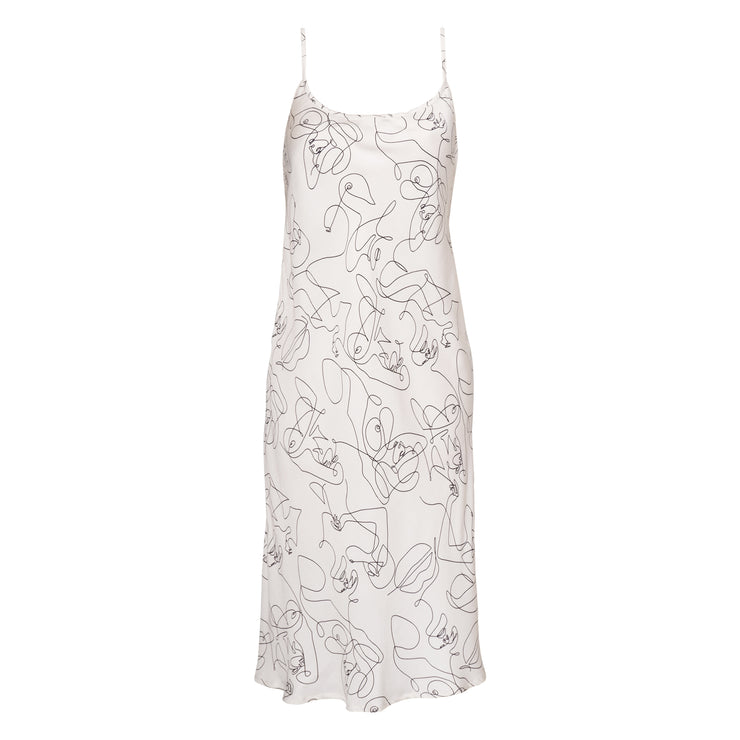 FIE SLIP DRESS WHITE