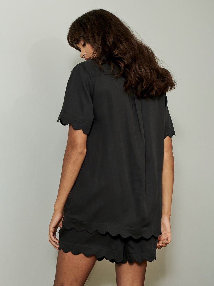 JANE SHORT SHIRT BLACK