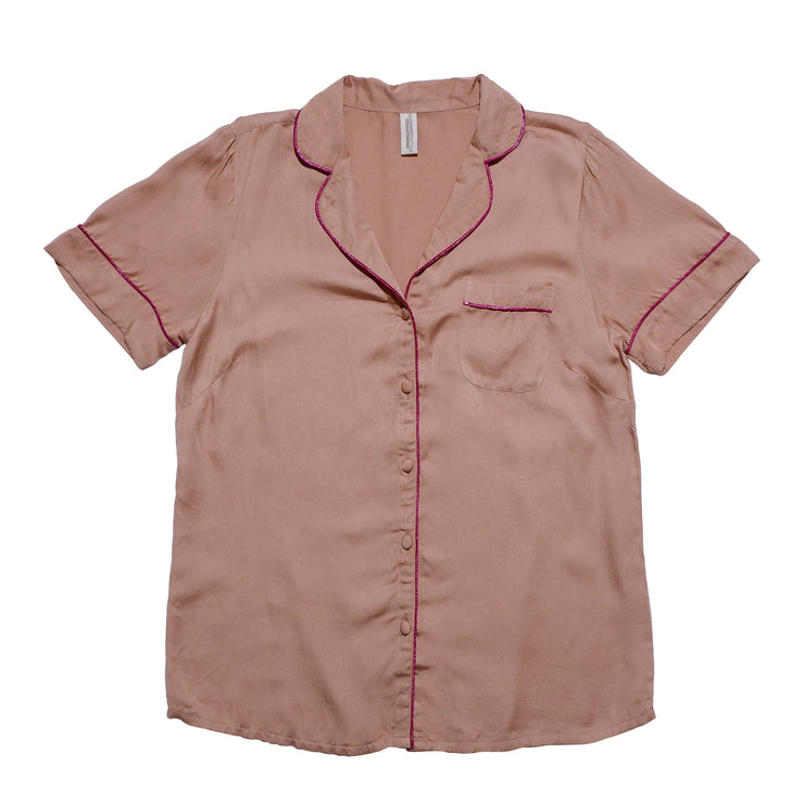 LISA SHORT SHIRT WARM BEIGE