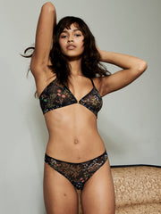 RANIA TRIANGLE BRA BLACK