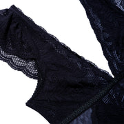 VICTORIA BODYSTOCKING SOLID BLACK
