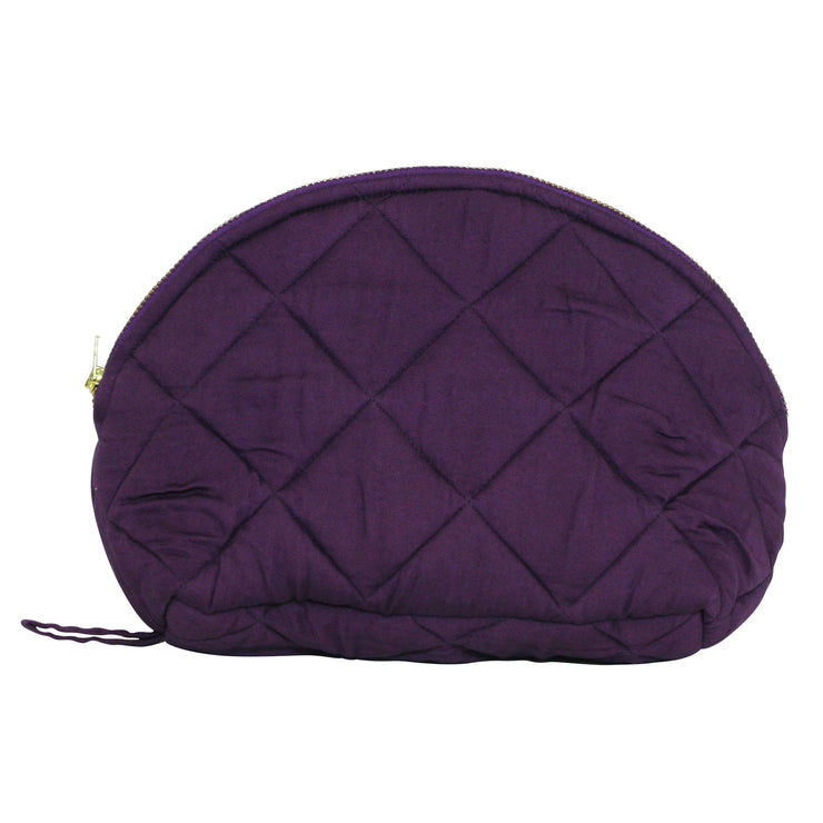 Isabel toilet bag is made in quilted lyocell fabric. Sustainable accessories