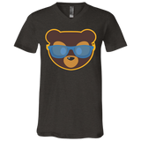 T-Shirt col V Unisexe - California Blue Beach Teddy Bear