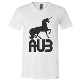 T-Shirt col V Unisexe - Black Unicorn
