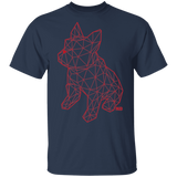 T-Shirt Classique Homme - Red Origami French Bulldog I