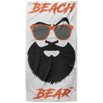Serviette de plage King Size - Orange Beach Bear