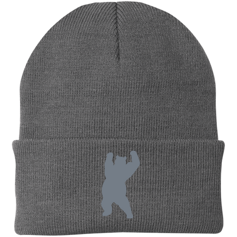 Bonnet Brodé - Grey Dancing Bear