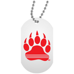 Collier Dog Tag - Red Bear Paw